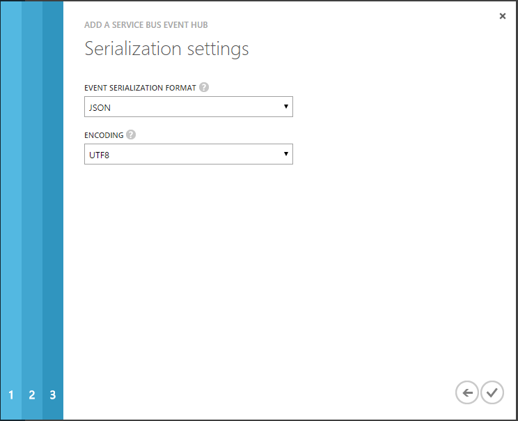Configure Event Hub serialization settings